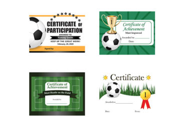 Kids Soccer Certificates