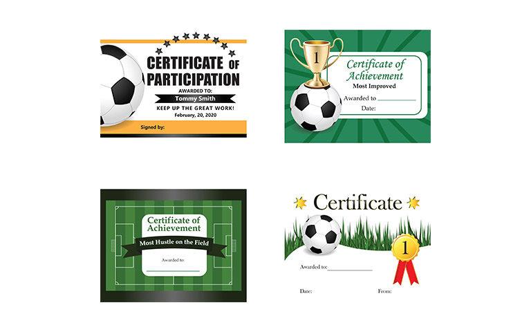 Kids Soccer Certificates